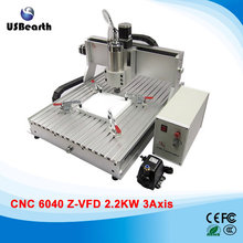 Woodworking machine CNC 6040 2.2KW 3 axis cnc cutting machine for metal stone cutting
