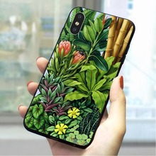 Plant Leaves Leaf Soft TPU Case for iPhone 8 Plus Protective Phone Cover for iPhone X Xs Max XR 5 5s se 6 6s plus 7 Cases balenciaga черная бейсболка с вышитым логотипом