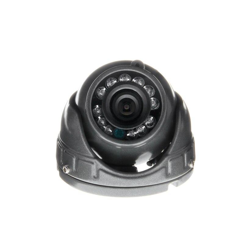 Gray Mini Car Camera,600TVL CCD  Metal Vehicle For Taxi Bus Waterproof Night Vision Analog Camera Free Shipping