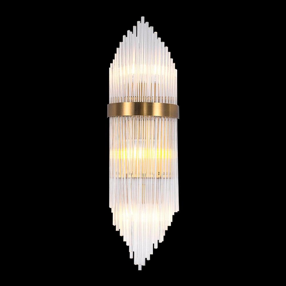 Современные светодиодный Кристалл Бра высокое качество ясно Стекло абажур бра для Гостиная Спальня висит золотой крытый светильник