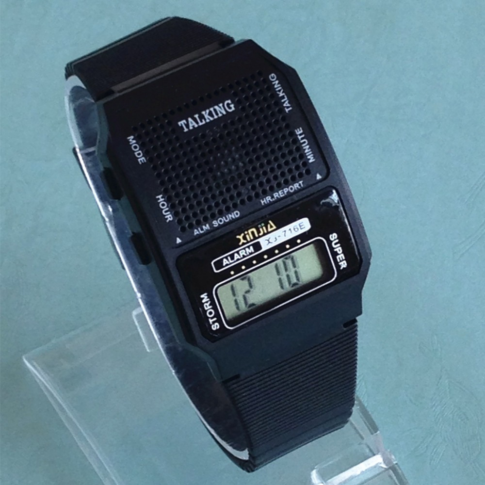 Spanish Talking Watch For The Blind And Elderly Digital Sport Wrist Watch (716US-TS)