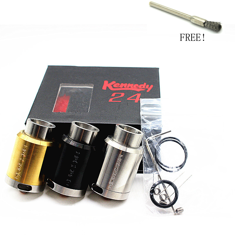 Kennedy 24 RDA Electronic Cigarette SS Material 24mm Diameter Kennedy Rebuildable Dripping Atomizer for Mechanical Mod Vape Kit
