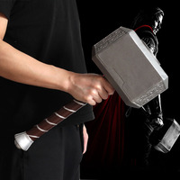 Superhero Thor Thunder Hammer Avengers Endgame Cosplay Prop A