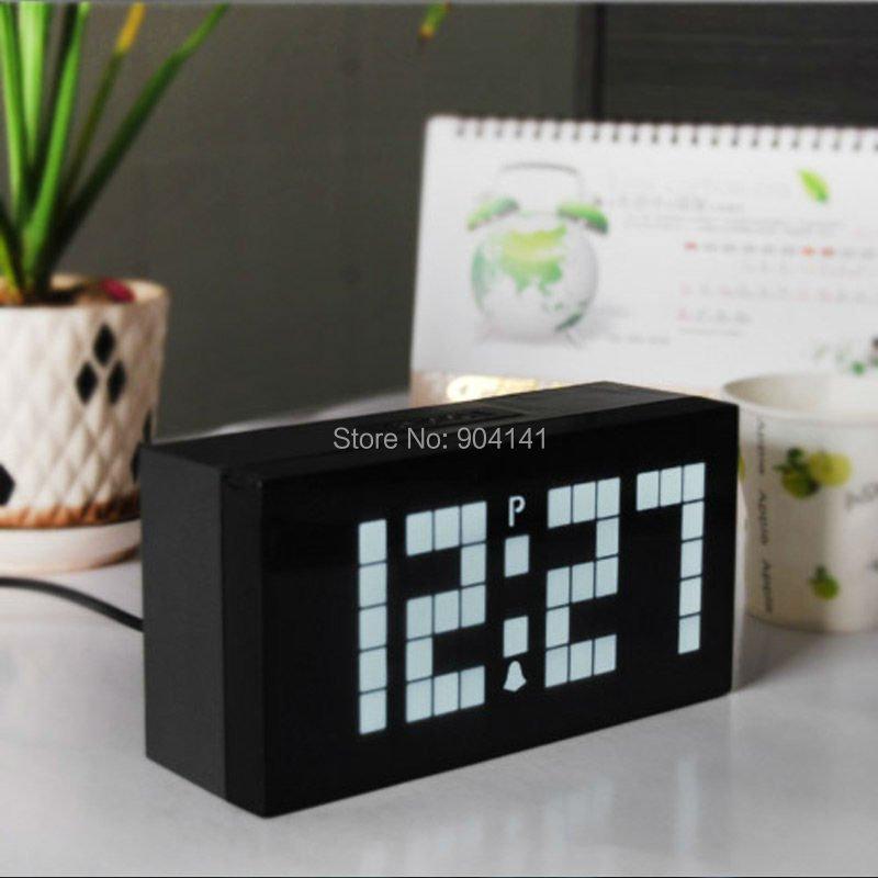 Home Decoration Wall Clock Big Display Modern LED Digital Table Snooze Alarm Slient Despertadors - Chihai Electronic Co., Ltd store