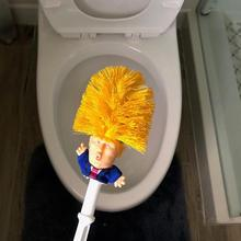 New face toilet brush plastic creative yellow rod like