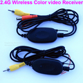 2.4 Ghz Kit Cor Do Carro RCA Transmissor de Vídeo Sem Fio e Receptor para conecte o Plugue RCA Câmera de Visão Traseira e DVD Player Monitor de HD
