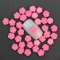 50 Unids/lote 3D Nail Art Encanto Joyería 6mm Rose Red Rose de la Resina flores de Decoración Para Uñas decoración de DIY Pegamento de Uñas Accesorios Arte PJ213