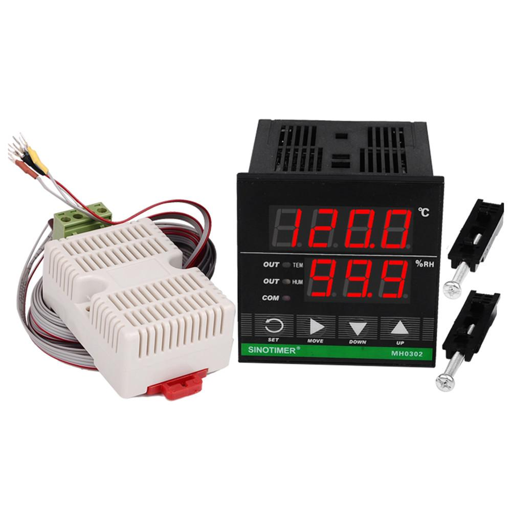 LCD Digital Display Temperature And Humidity Controller For Industrial Barn Hatching Greenhouse Breeding цена