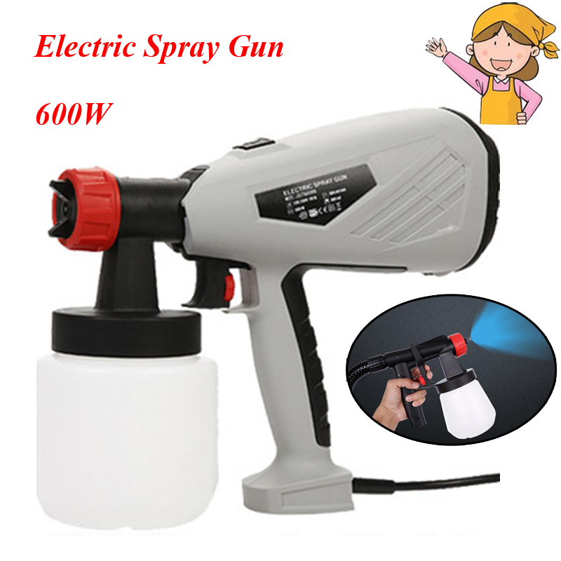 600W Electric Paint Spray Gun 800ml DIY Electric Spray Gun HVLP Sprayer Control Spray Power Paint Sprayers 800w electric painter spray gun 900ml latex paint sprayer 1 8m spray hose hvlp paint sprayers house painting machine power tools