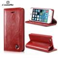 SE 5S CaseMe Original Do Vintage Caso Carteira de Couro para o iphone 5 5S SE com Portadores de Cartão + Suporte Função Flip Phone Pouch saco