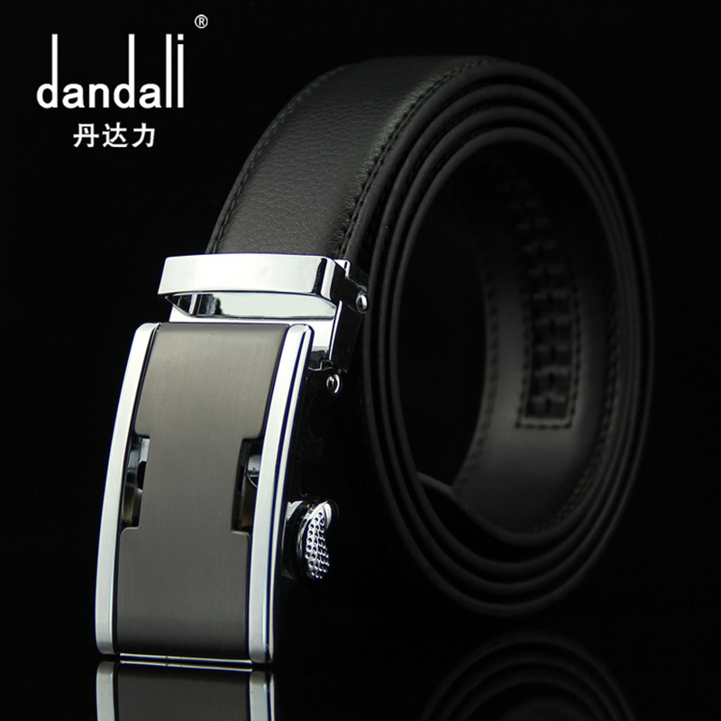 Brand Cow Genuine Leather Belt Men Automatic Buckle Designer Belts For Mens Jeans Waist Band Luxury Black Strap