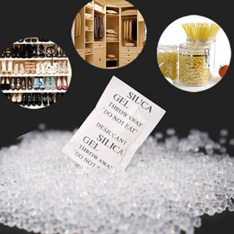 200 Packs Non-Toxic Silica Gel Desiccant Damp Moisture Absorber Dehumidifier For Room Kitchen Car Clothes Food Storage Dryer