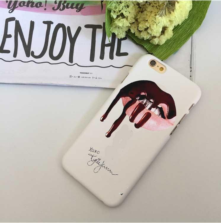 Kasus telepon Sexy Girl Kylie Jenner Bibir Merah Muda Ciuman Kasus - Aksesori dan suku cadang ponsel - Foto 3