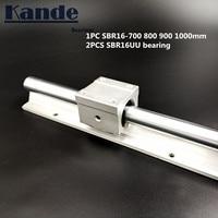 linear rail 16mm SBR16 700 800 900 1000 mm 1 pc linear guide SBR16 + 2 pcs SBR16UU blocks for CNC