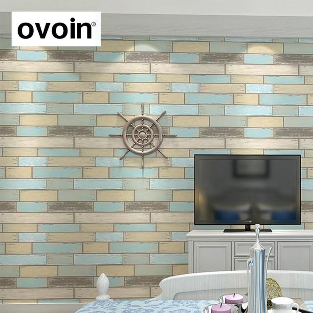 US $29.9  Moderne Strukturierte Ziegel Tapete Für Wand Vinyl Holz Panel  Wand Papier Küche Fliesen Wandverkleidung Für Hintergrund Rot Blau Grün in  ...