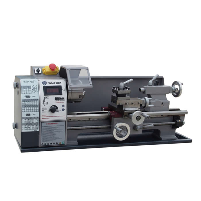 Small household lathe WM210V mini machine tool 600W stepless speed regulation home buddha machine wm210v small ball machine mini machine tool teaching lathe woodworking wm180v 0618