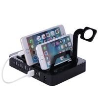 BIBOVI AB/ABD/İNGILTERE Tak 8.8A 6 Port USB Şarj Dock İstasyonu Redmi Xiaomi iPhone Samsung HTC Için AC Güç Seyahat Adaptörü Lenovo
