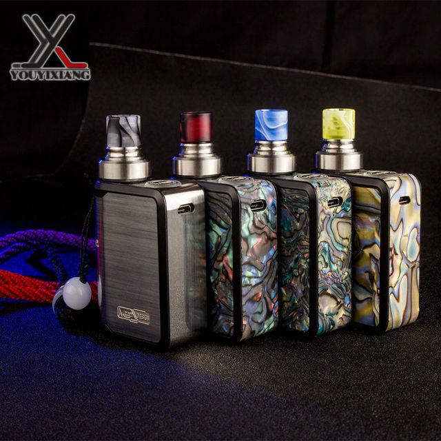 100% original mi-one kit cigarro eletrônico vape caixa mod mini nevoeiro controle de fluxo de ar embutida 1100 mah da bateria com display oled