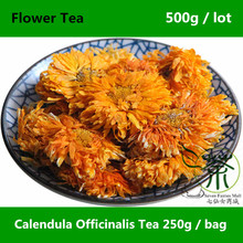 Reducing Inflammation Calendula Officinalis Tea 500g, Promoting Wound Healing Marigold Tea, Health Care Jin Zhan Ju Flower Buds
