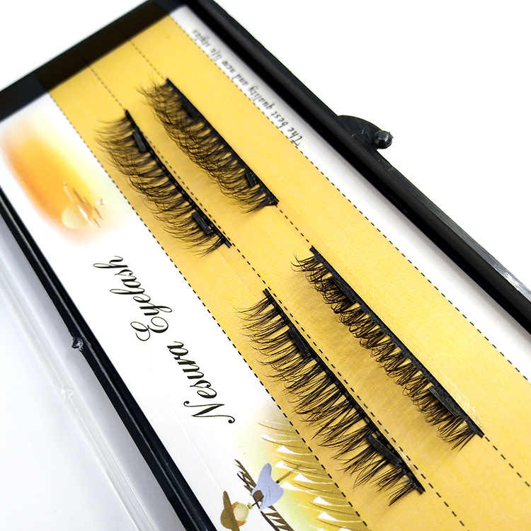87fea3f69ba ... Magnetic False Eyelashes Fake 3D Mink Strip Lashes Full Strip Handmade  Natural Thick Individual Eyelash Extension ...