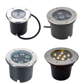AC110V-240V 3W 6W 9W 12W 18W 24W 36W LED Underground light Ground Garden Path Floor Outdoor White RGB Light IP66