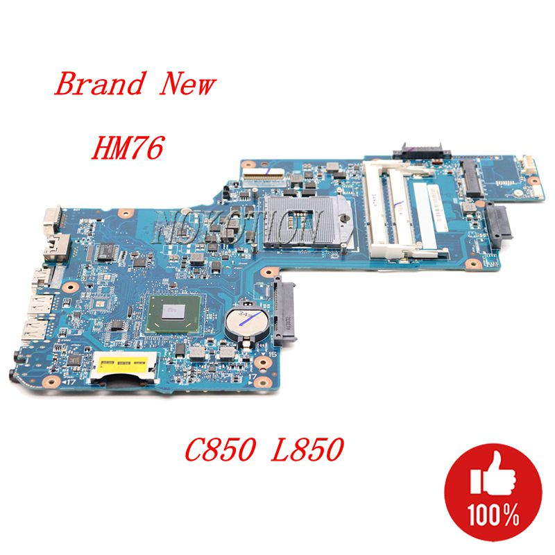 NOKOTION H000052360 H000052590 Main board For Toshiba Satellite C850 L850 Laptop Motherboard SLJ8E HM76 gma hd