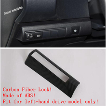 Lapetus Head Lights Lamp Switch Button Cover Trim Fit For Toyota Corolla 2019 2020 Matte Carbon Fiber ABS / Accessories Interior lapetus accessories for toyota camry 2018 2019 matte carbon fiber abs front head light switches button molding cover kit trim