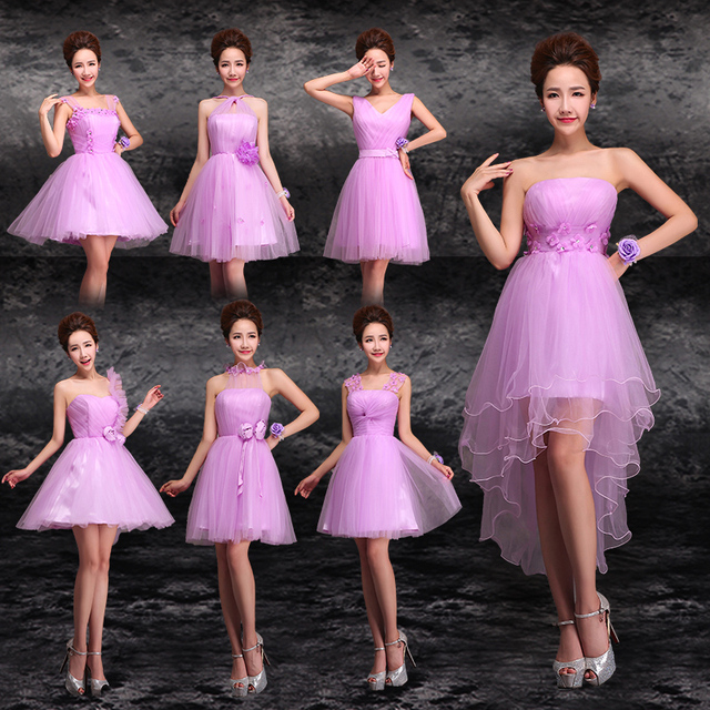 LC151M Lavender Bridesmaid Dresses Gown Tulle 7 Styles Light Purple Maid Of Honor Dress Bridesmaid High  sc 1 st  AliExpress.com & LC151M Lavender Bridesmaid Dresses Gown Tulle 7 Styles Light Purple ...