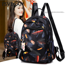 Oxford cloth shoulder backpack fashion printing travel leisure light waterproof backpacks out storage bag Mochils Mujer 2019