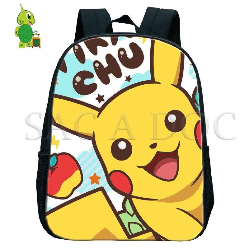 Pokemon Pikachu Backpack Bulbasaur Toddler Backpack Children School Bags Baby Boys Girls Primary Kindergarten Backpack Small Bag