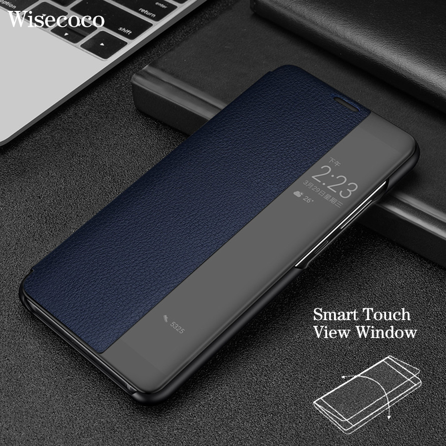 Smart View Flip Case for Huawei mate 10 Pro Original Huawei p20 Pro Case Luxury Genuine Leather Official Huwei P20 Mate 10 Coque
