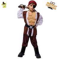 Kids Muscle Pirate Cosplay Costume For Boys Christmas New Year Halloween Cosplay Costumes Children Party Costumes