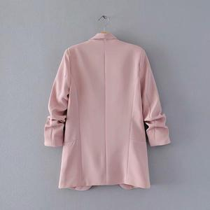 Pink Shawl Collar Elegant Office Ladies Workwear Blazer Long Sleeve Regular Fit Minimalist 2018 Women Autumn Blazer 7 Colors