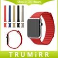 1:1 como original genuine pulseira de couro fecho magnético para pulseira iwatch apple watch strap substituição loop macio 38mm 42mm