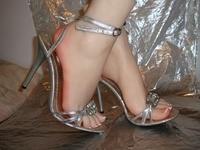 Free Shipping!23cm 38# female wheat color Silicone Fake Foot,Inner Bone Inside,Toe Move Freely,Feet Model,Shoe Model