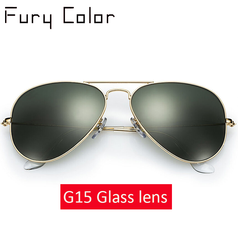 Real Glass Lens Classic Vintage Sunglasses Women Men Luxury Design Brand Driving Retro Sunglasses Ladies Sun Glasses For Male