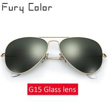 Real Glass Lens classic vintage Sunglasses Women Men Luxury Design Brand Driving