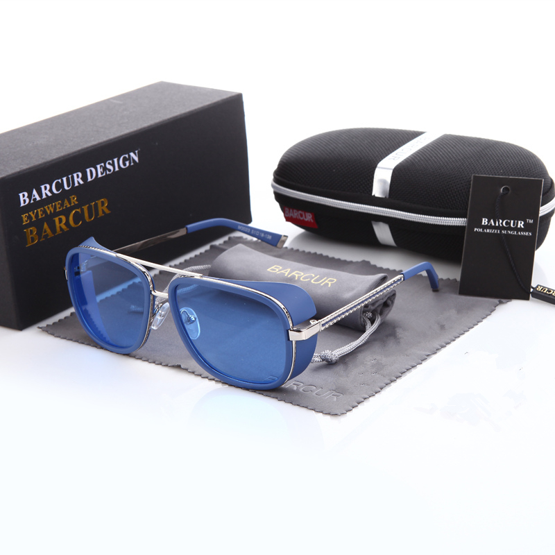 Tortoise Sunglasses IRON MAN 3 Matsuda TONY Steampunk Sunglasses Men Mirrored Brown Gradient Sunglasses FASHION