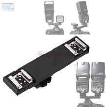 Çift Sıcak Ayakkabı Sync TTL Off Kamera Kolu Braketi Splitter Tetik için Nikon D7500 D7200 D800 D600 SB910 SB900 SB 5000 SB700 SB 500