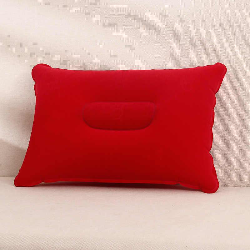 1 Pcs Kreatif Portabel Makan Siang Inflatable Bantal Praktis Perjalanan Luar Ruangan Bantal Rumah Sederhana Perlengkapan Kamar Tidur Bantal