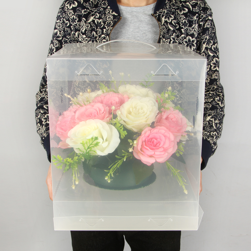 Bigger Clear Square Wedding Favor Gift Box PVC Transparent Birthday Party  Valentines Day Portable Flowers Gift Boxes Bigger Clear Square Wedding Favor Gift Box PVC Transparent Birthday Party  Valentines Day Portable Flowers Gift Boxes