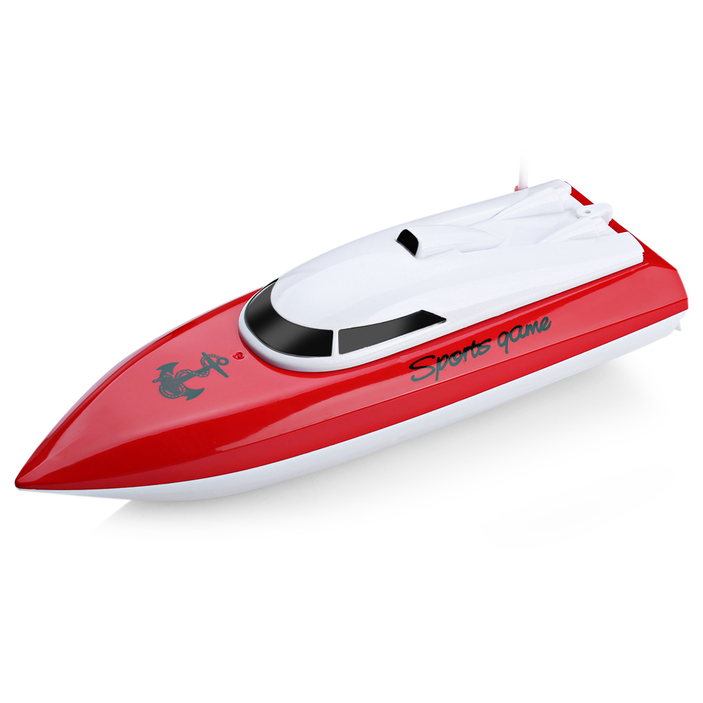 RC Boats Kidome Charging Outdoor Radio Remote Control 4 Channels Waterproof Mini High speed boat Airship Bait Boat CP802 Present