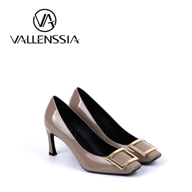 065571c007a38 Italian ladies  Ivory ash sheepskin shoes High-heeled patent leather shoes  Foreign trade