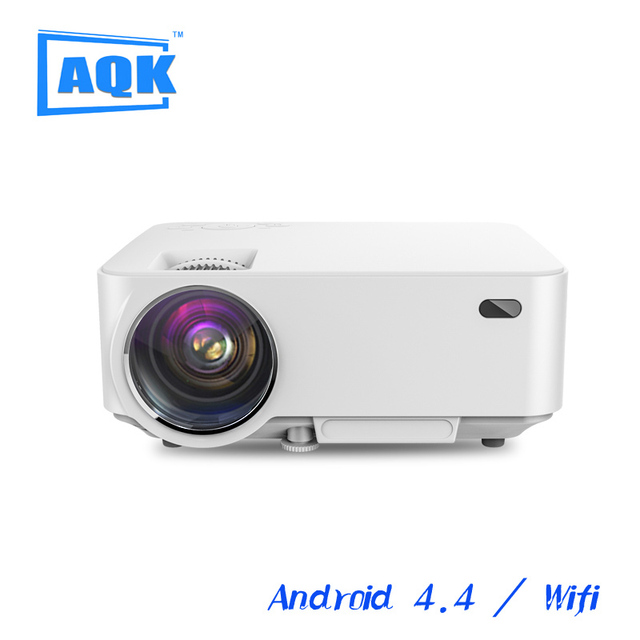 2016 1500lms M1A Android WiFi proyector Inteligente Proyector 1080 P lcd video Home theater 3D Full HD Proyector LCD para reunión