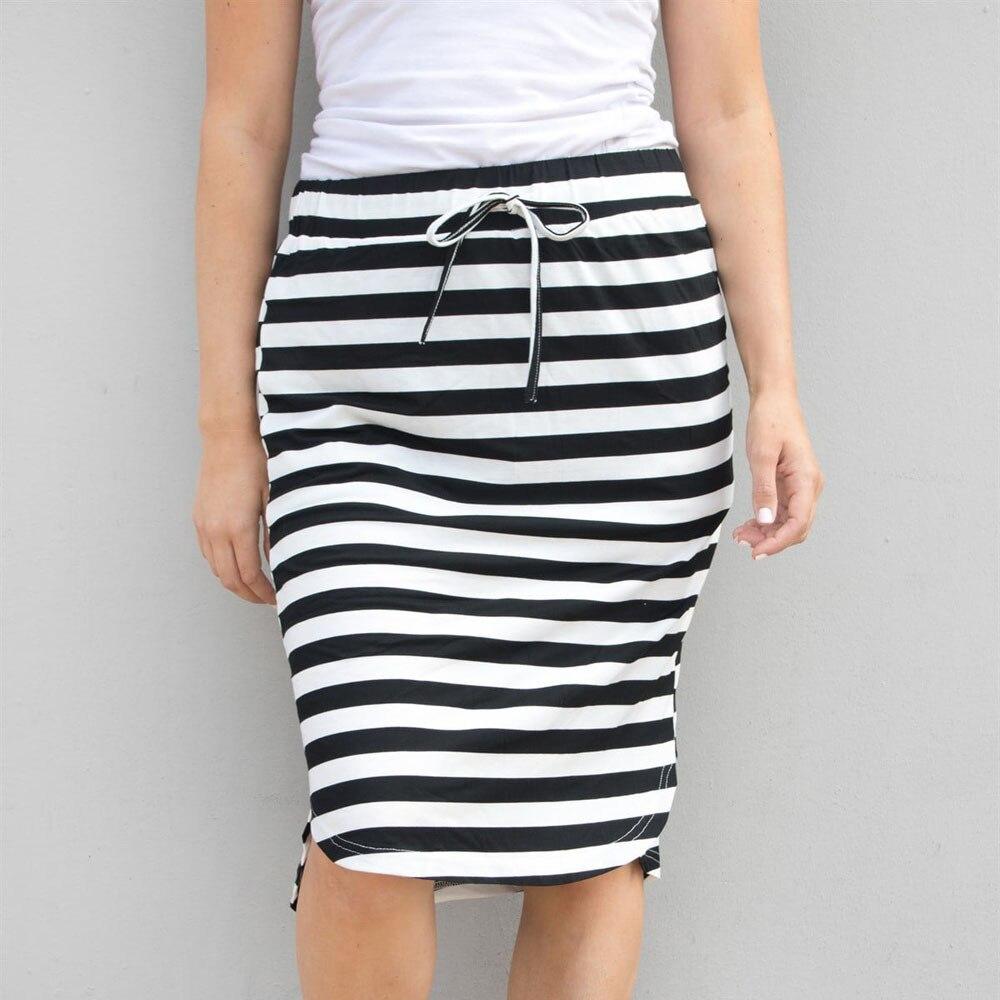 Womail Women Skirt Summer Fashion Fashion Stripe Hight Waist Knee-Length Skirt  Tutu Daily Casual 2019 Dropship F8