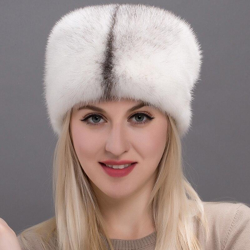 JKP brand new 2018 women's mink fur hat mink hat elegant leather hat female fashion DHY17 27