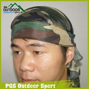 Image 2 - Paintball Airsoft Air Gun Headwrap Olive Woodland Camo Head Wrap Headband