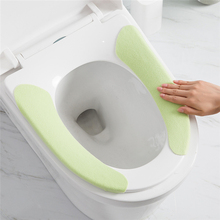 100 Sets Hot Sale Nordic Comfortable Bathroom WC Toilet Seat Cover Washable Closestool Standard Soft Cushion Portable seat pad