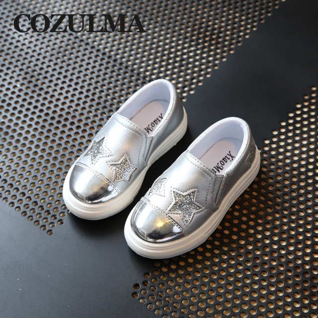 New Brand Spring Autumn Toddler Pu Leather Sneakers For Girls