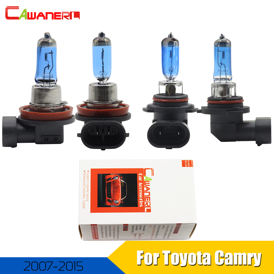 Cawanerl For Toyota <font><b>Camry</b></font> Sedan 2007-2015 100W Car Halogen Bulb <font><b>Headlight</b></font> High Low Beam 12V Accessories 4 Pieces image